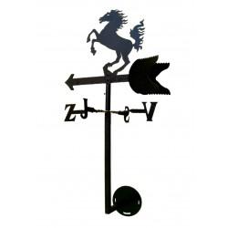 Větrná korouhev Kůň - na štít domu - SN