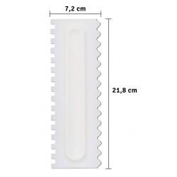 Dekorační stěrka na dorty - plast s dvojitým dekorem délka 21,8 cm