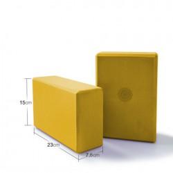 Jóga kostka blok cihlička s motivem mandaly - Oranžová