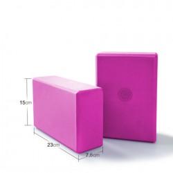 Jóga kostka blok cihlička s motivem mandaly - Růžová