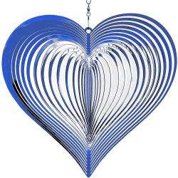 Plašič ptactva, zahradní dekorace - Srdce - Modrá