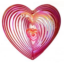 Plašič ptactva, zahradní dekorace - Srdce - Červená