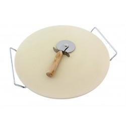 Pizza kámen 33 cm, s krájecím kolečkem HARMONY