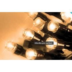 LED osvětlení venkovní - klasická, tep. bílá 10 m, časovač, ovladač