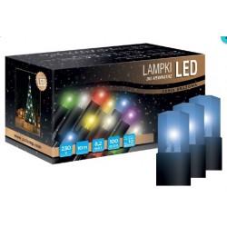 LED osvětlení vnitřní - klasická, modrá, 10 m