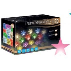LED osvětlení vnitřní - hvězda, růžová, 10 m