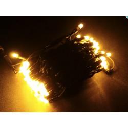 LED osvětlení venkovní - klasická, žlutá, 10 m
