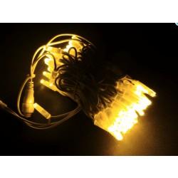 LED osvětlení venkovní - klasická, žlutá, 10 m, žlutý kabel