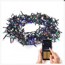 Solight LED WIFI smart venkovní vánoční řetěz, 240 LED, 12m, přívod 5m, teplá bílá + vícebarevný